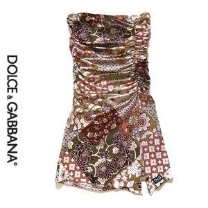 Dolce & Gabbana strapless tunic tubetop dress S